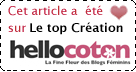Elu TOP-CREATION sur Hellocoton