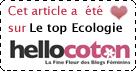 Elu TOP ECOLOGIE sur Hellocoton